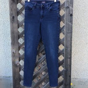 NYDJjeans with silver grommets down legs